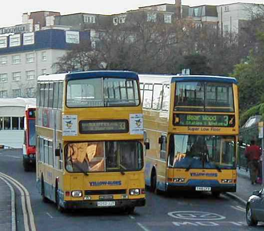 Bournemouth Yellow Buses Dennis Dominator & Volvo B7TL