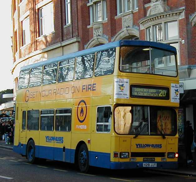 Bournemouth Yellow Buses Dennis Dominator - East Lancs