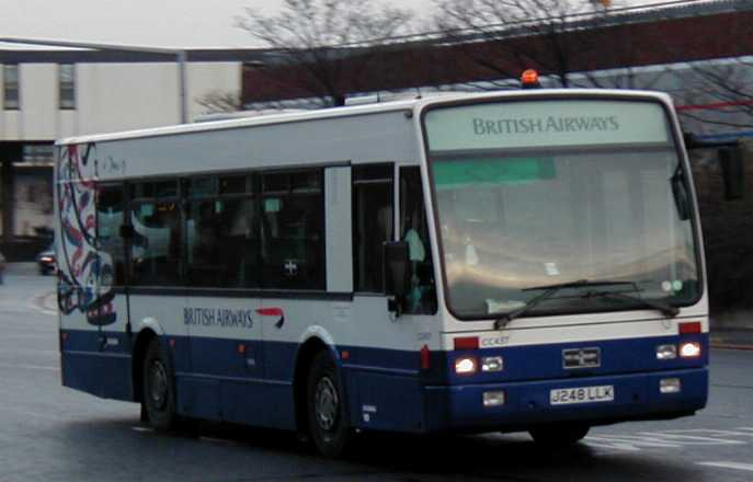 British Airways Van Hool A308 J248LLK