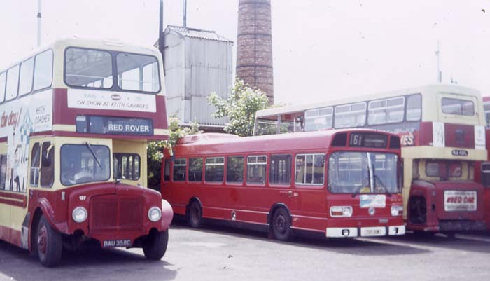 Red Rover AEC Renown & Leyland National